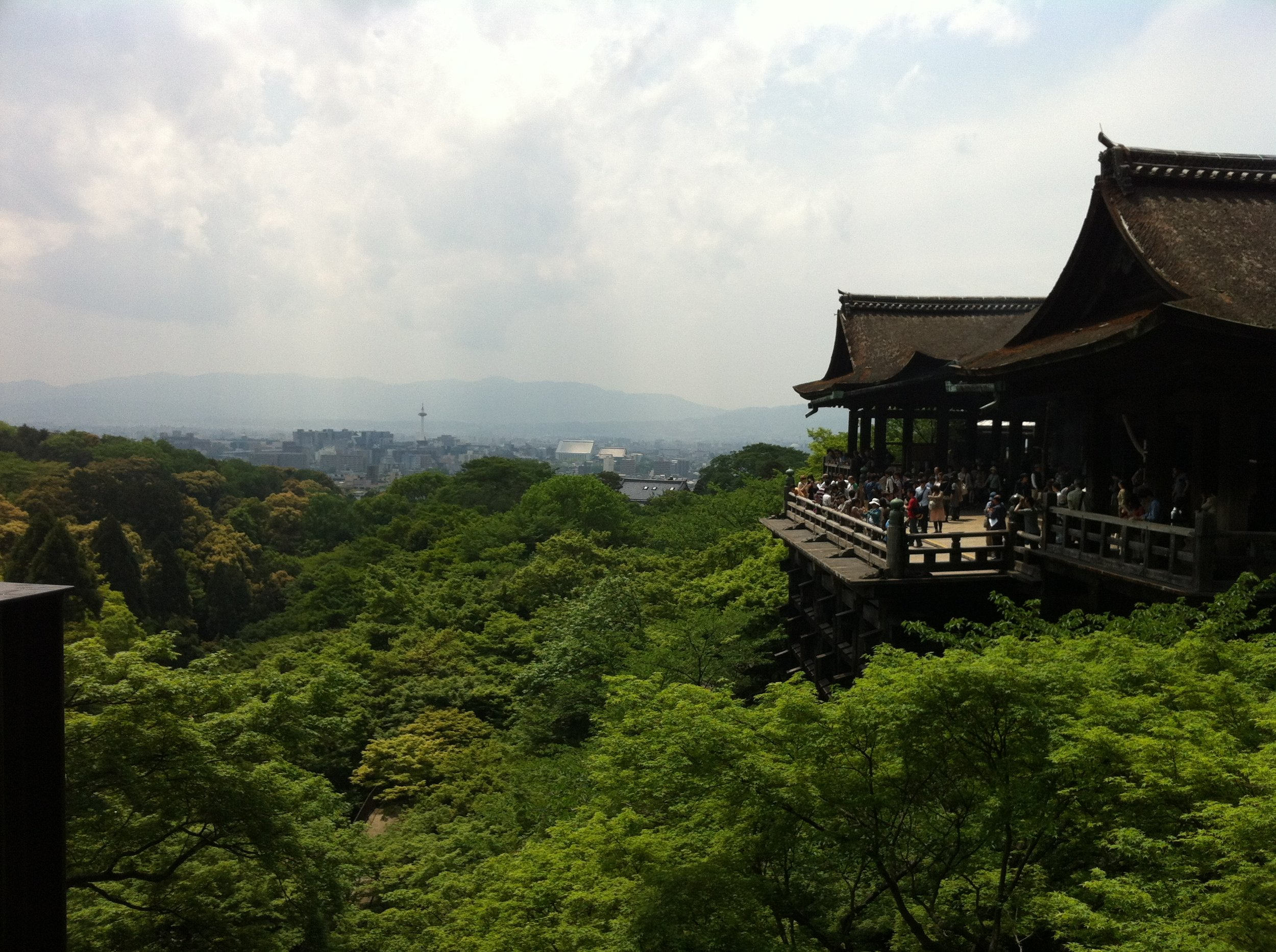 Kiyomizudera in the summer time, a picture from a trip years later from the bell's purchase.