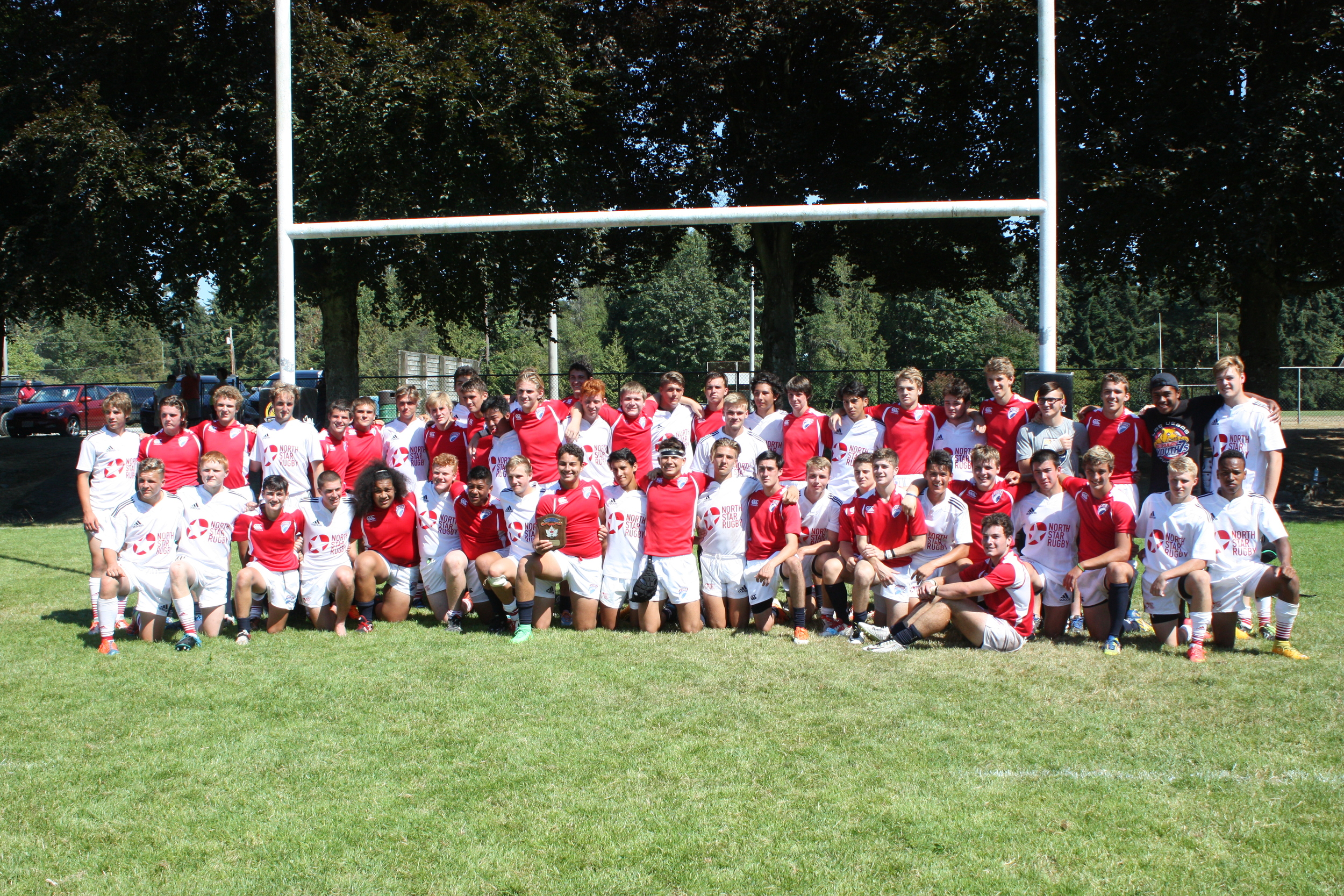 BC north star selects and USA's Eagle Impact Rugby Academy come together after a hard fought match