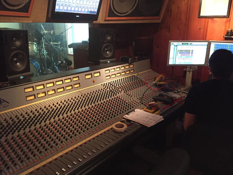 JJ Blair's Board at Fox Force Five Recorders, where the magic happens!