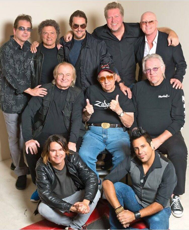 {Pictred Left to right, Top to Bottom} Billy Amendolla. Jo Vitale, Jim Keltner, J.R. Robinson ,Russ knuckle,Alan white,Hal Blain , Denny Seiwell ,Robin Diaz and rich Redmond