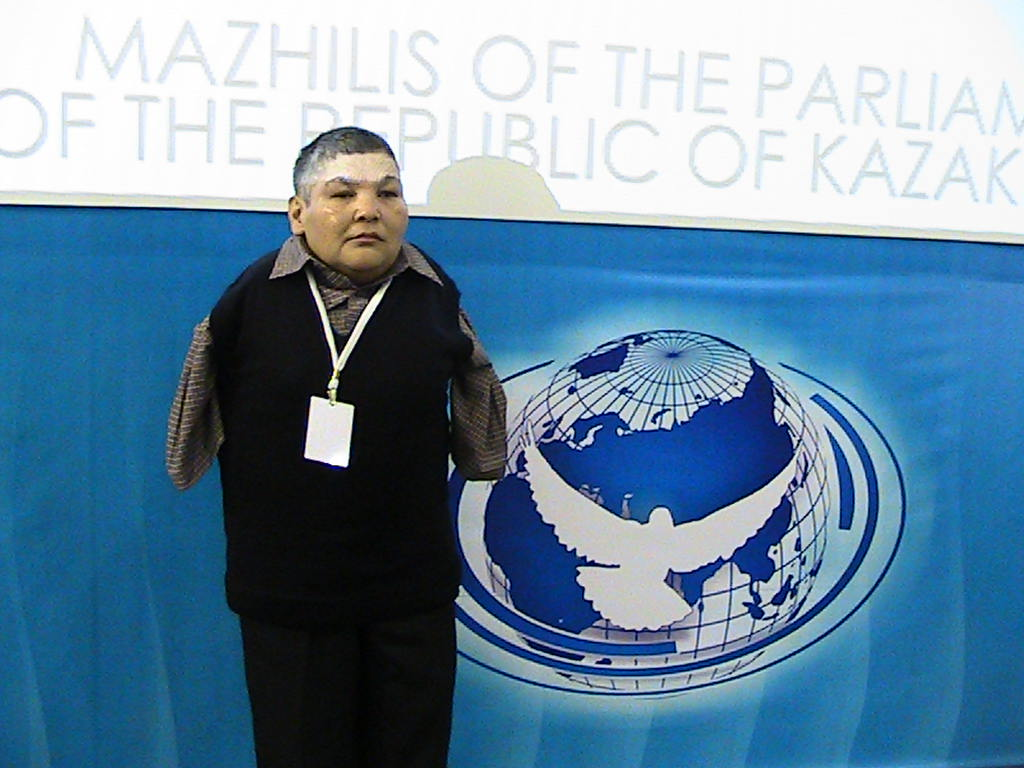 Karipbek launching the ATOM Project at the 2012 PNND Assembly in Astana