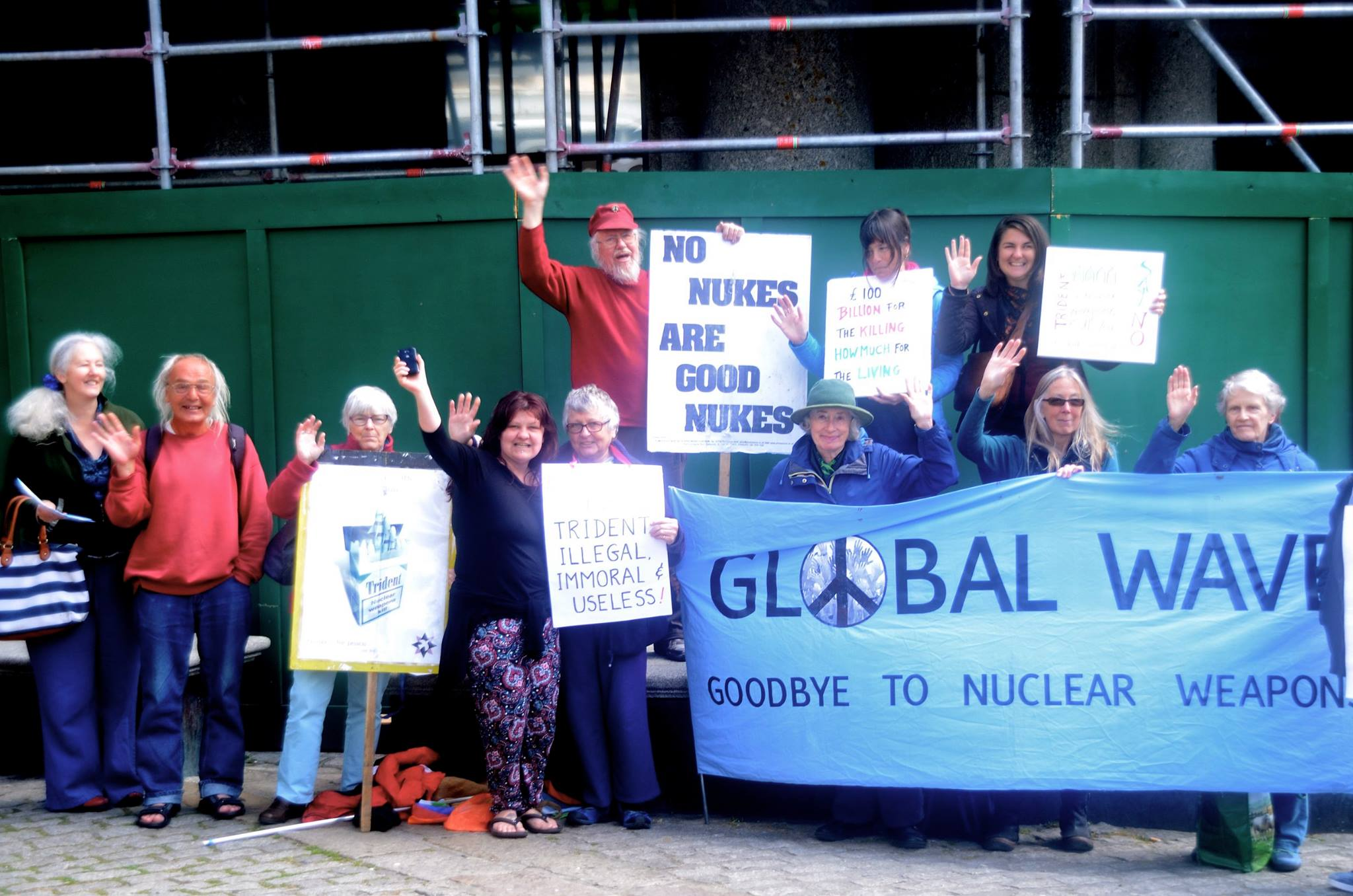 Penzance, UK waving goodbye to nuclear weapons