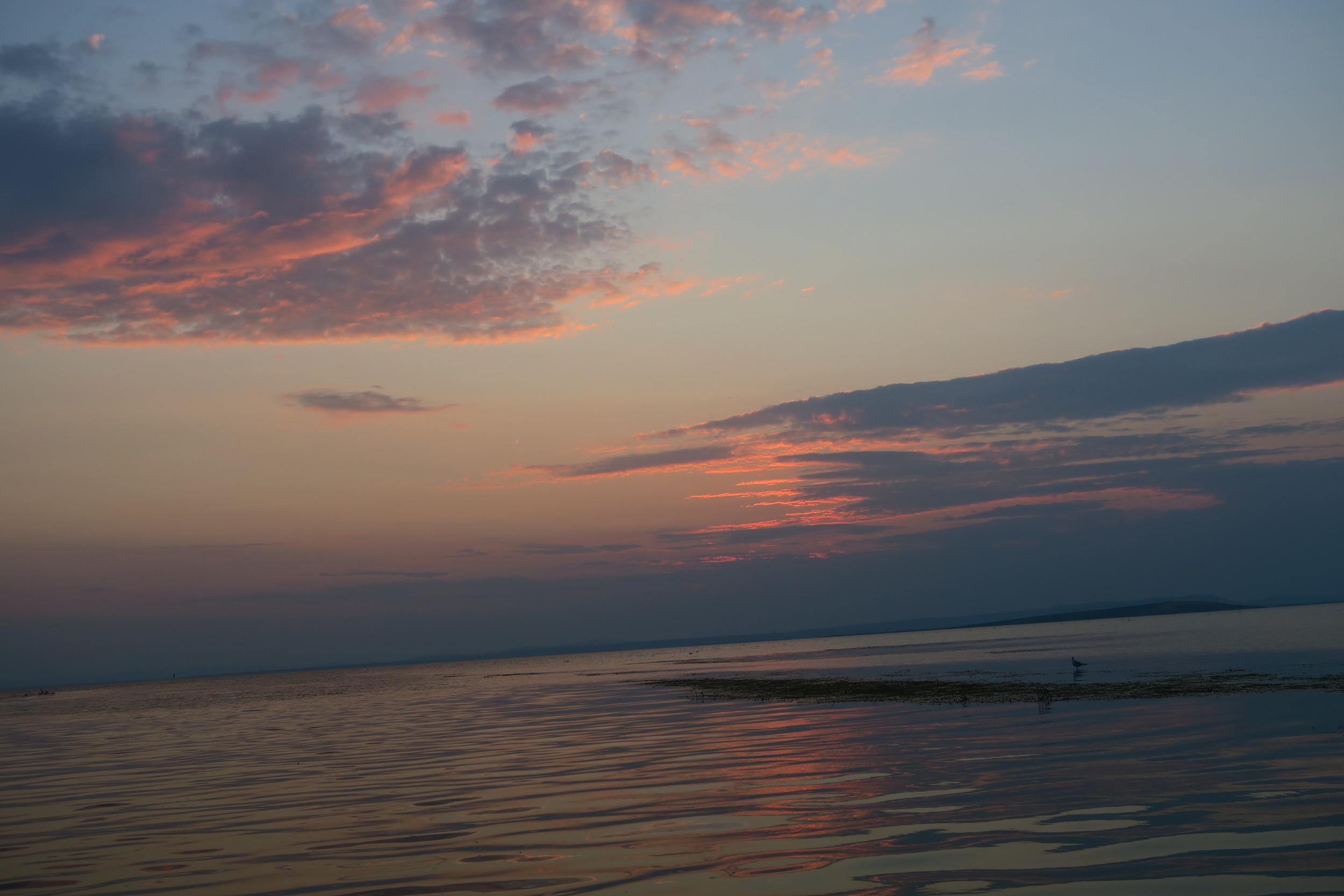 Lacul Razim  - apus de soare (vedere dinspre Pensiunea Delta Paradis)
