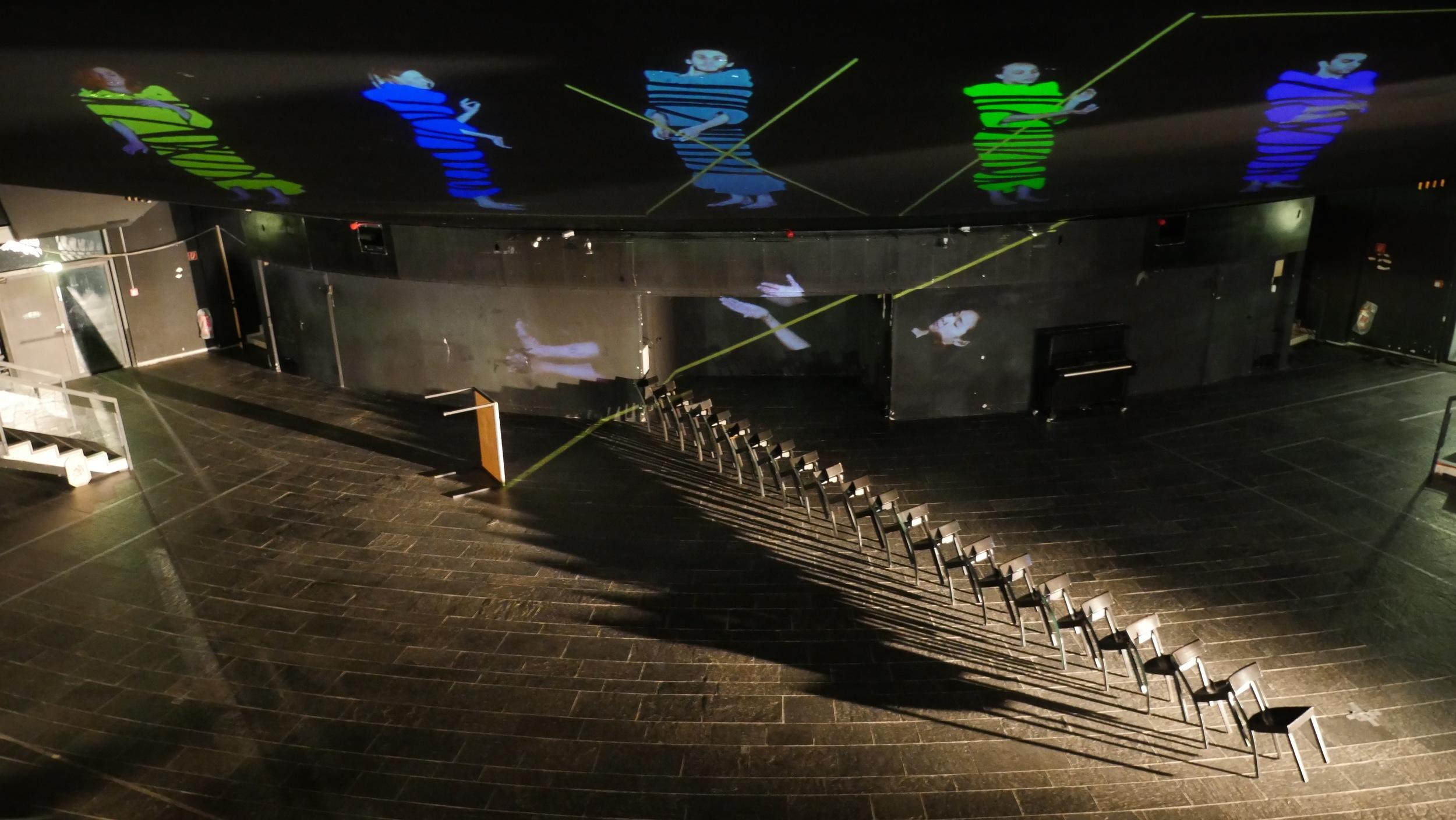 2016 - Schauspielhaus Wuppertal - Pina Bausch Underground IV - Installation Dancer-Texture