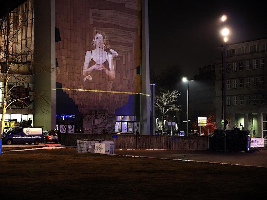 2018 Duisburger Akzente Liebfraun Kultur Kirche - Public Art - Raster - Videoinstallation