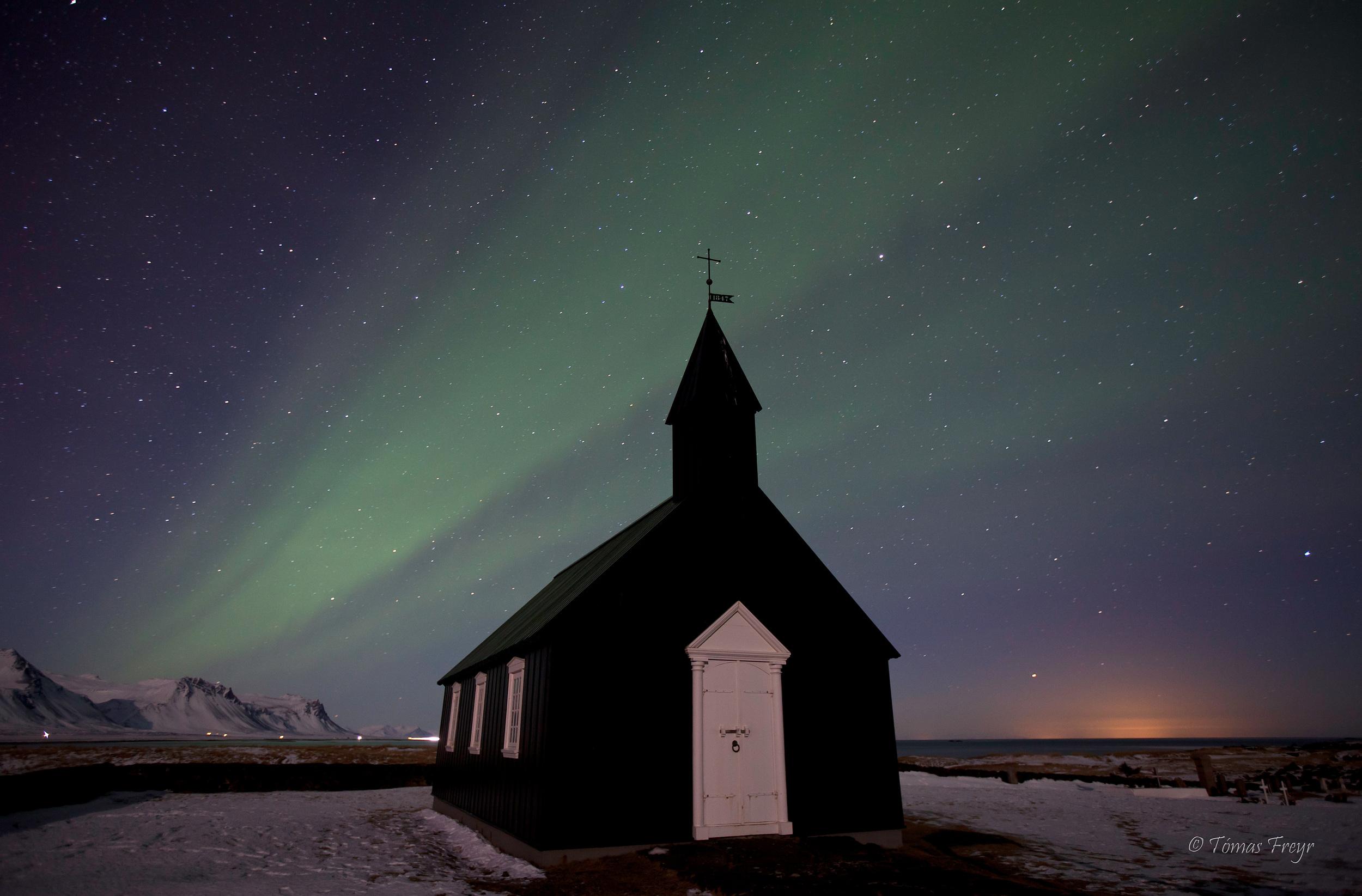 Búðakirkja, the black church, west iceland