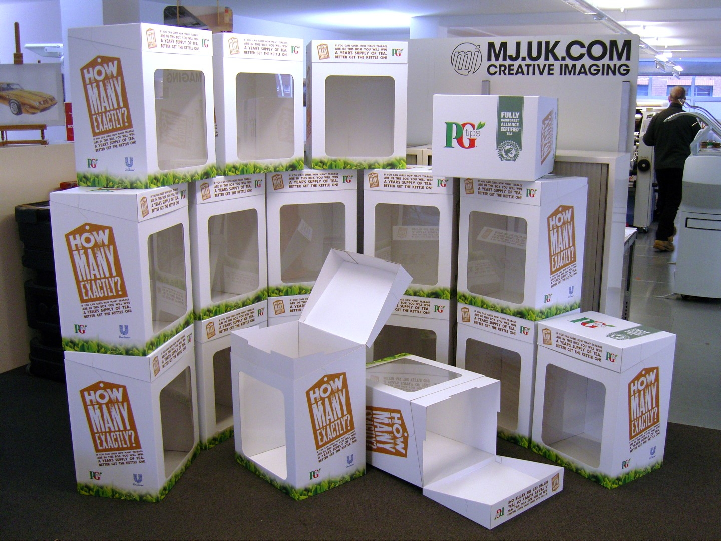 PG Tips Promotional Boxes