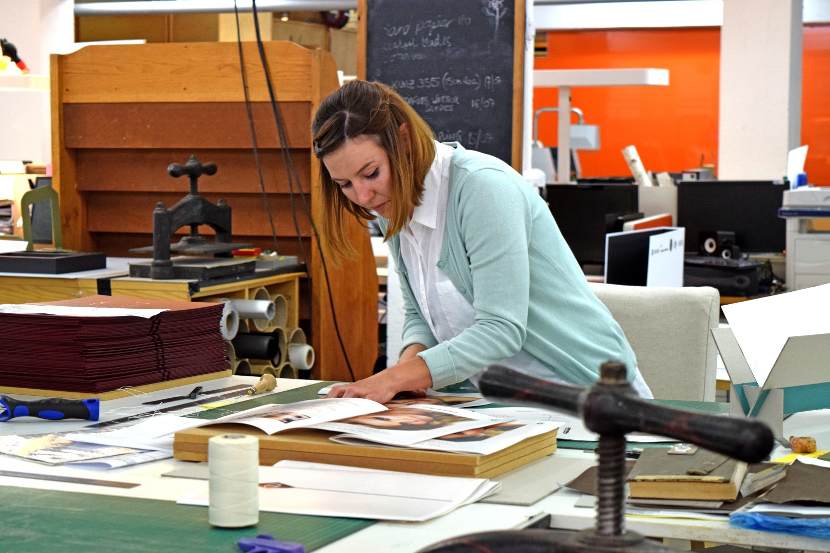 The Bindery in Production