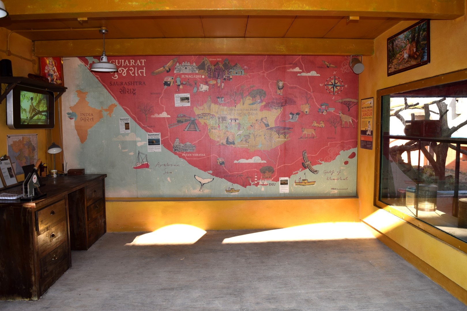 Map printed Direct to Plywood
