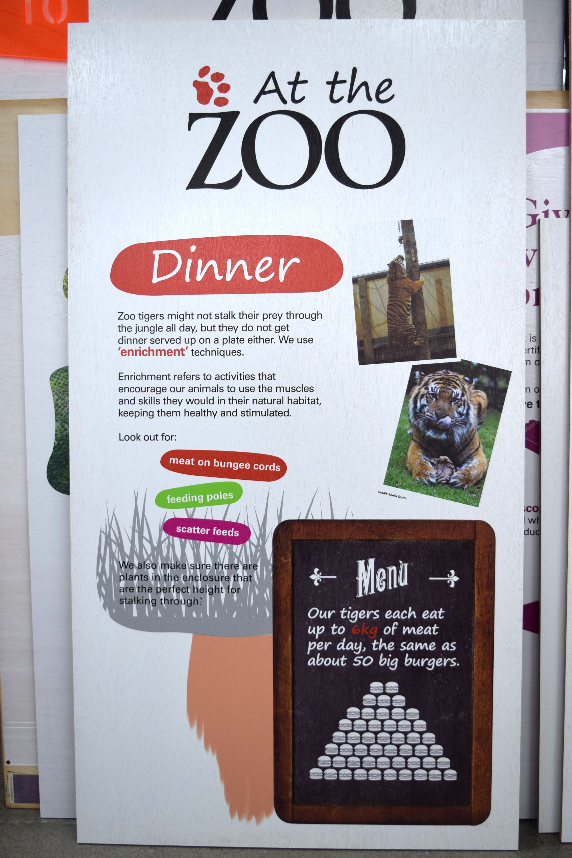 Menu Design - Printed directly onto Wood