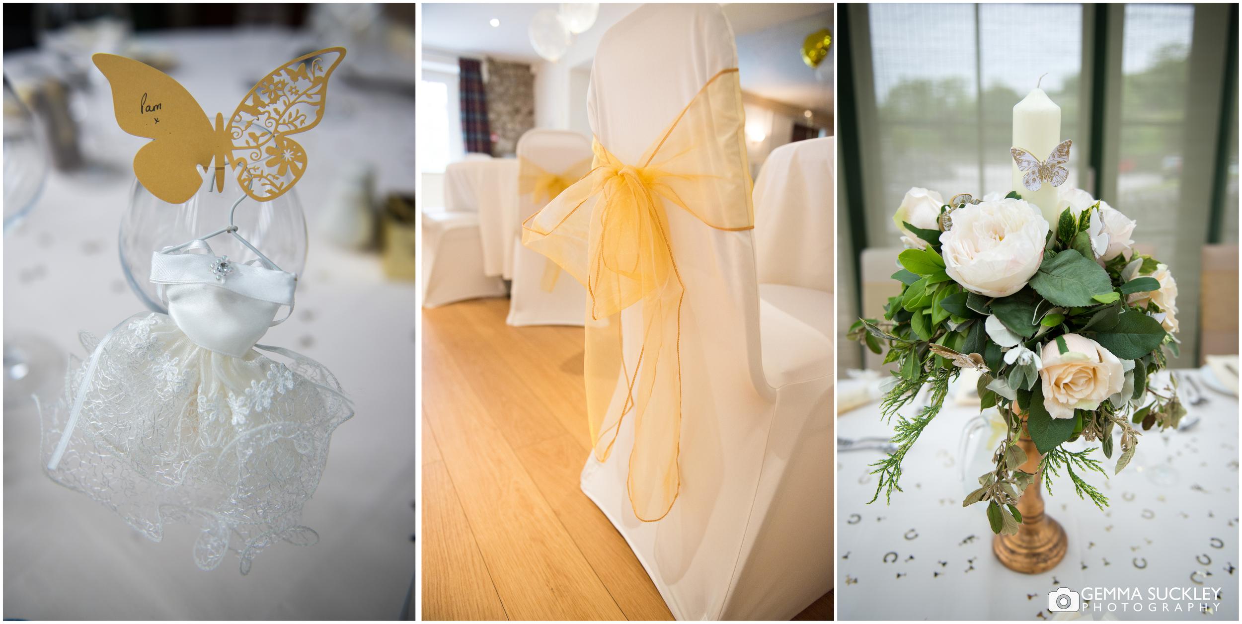 Wedding detail at the gameskeeper inn