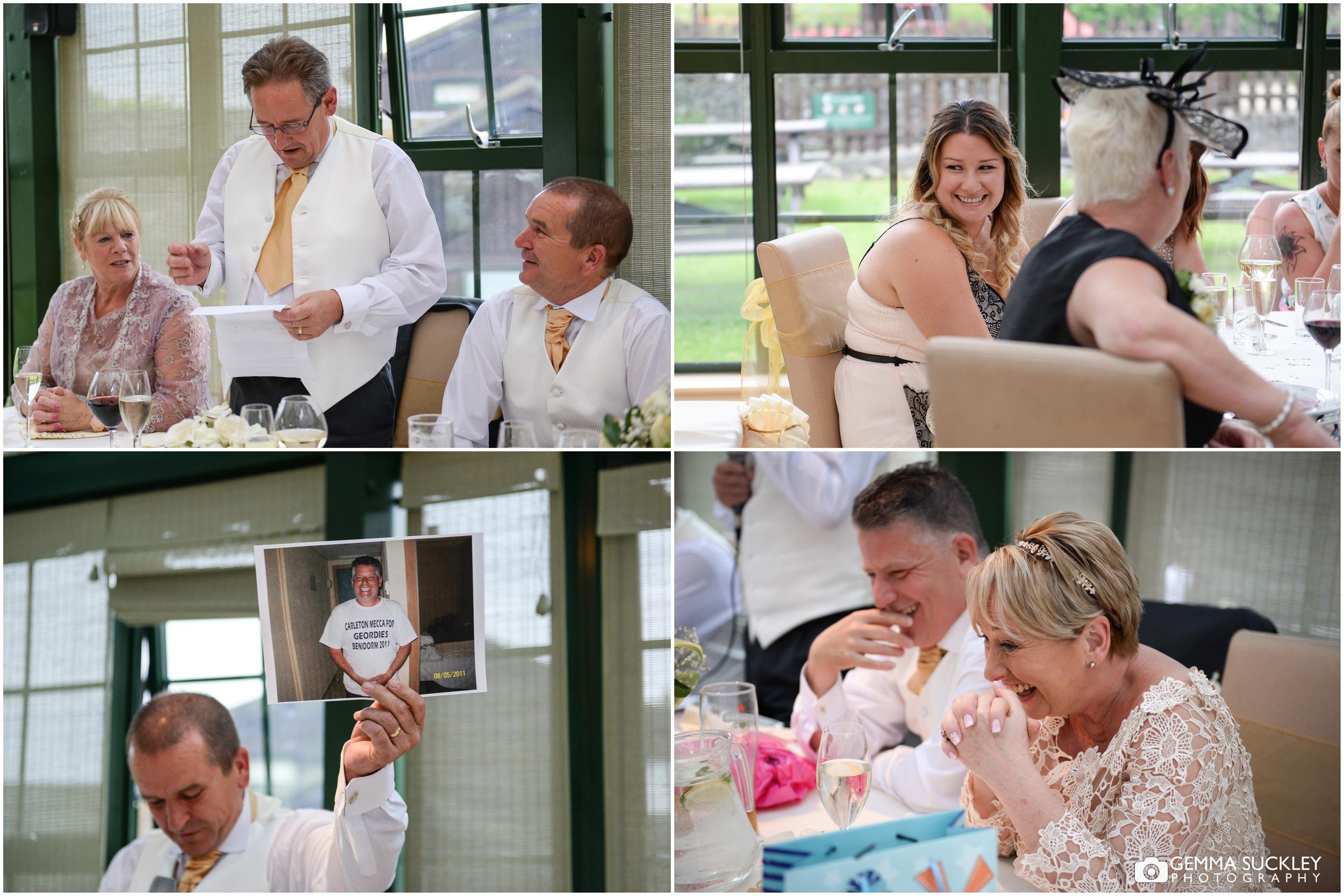 wedding speeches in the Gamekeepers Inn