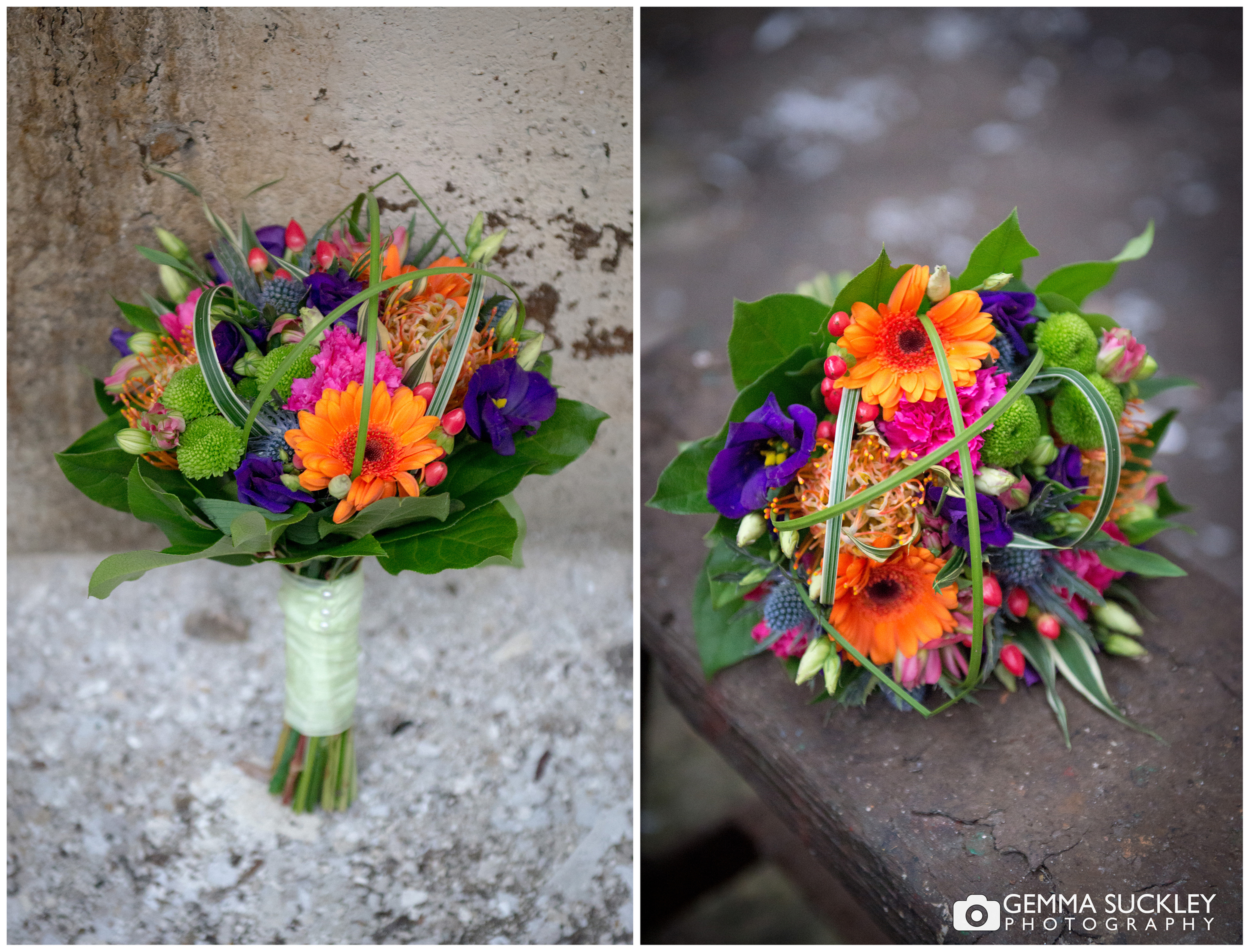 colourful wedding bouqette