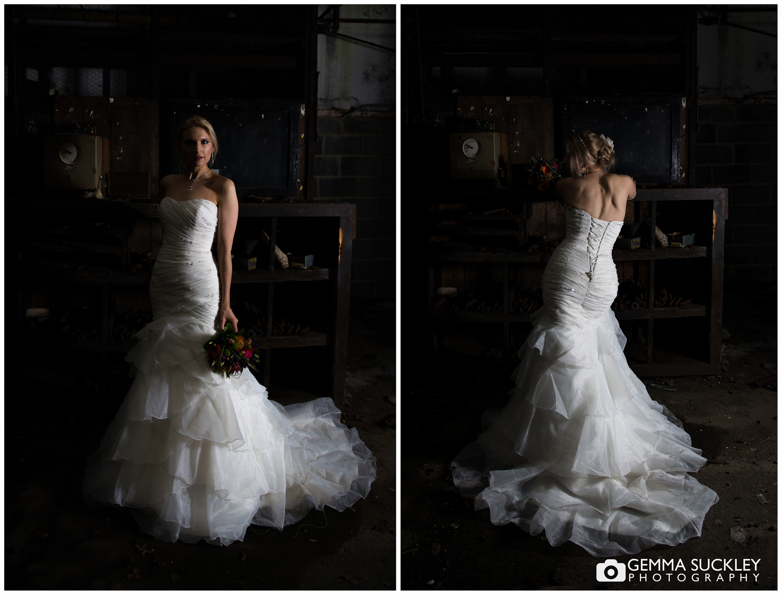 dramatic lighting on a bride
