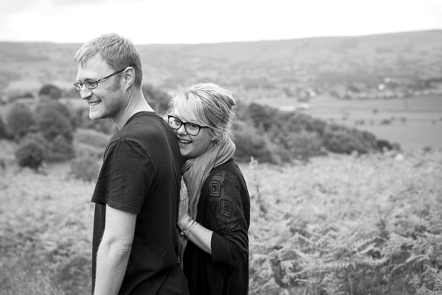 Copy of engaged couple on Farnhill Moor