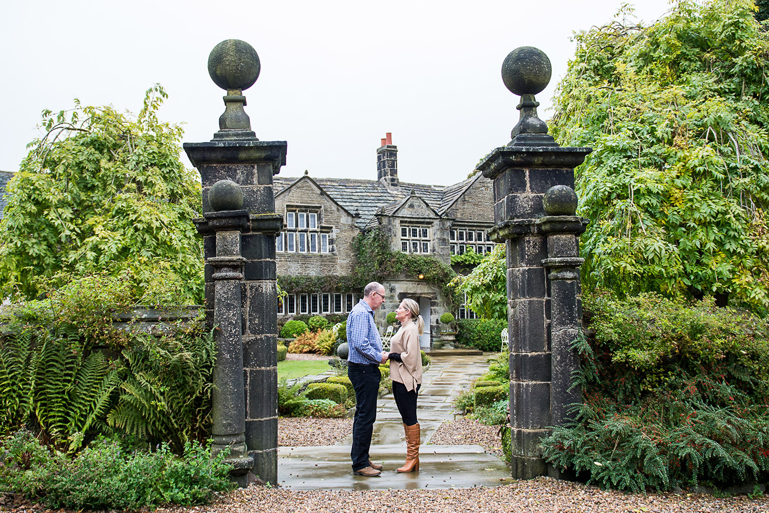 Copy of bride and groom to be at holdsworth house