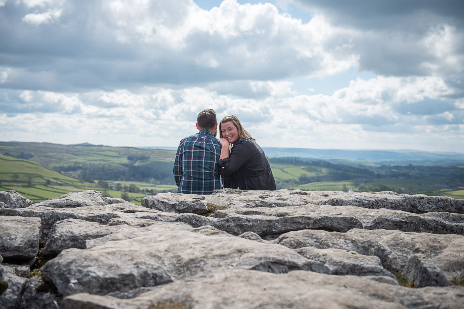 Copy of engagement photo shoot at Malham cove