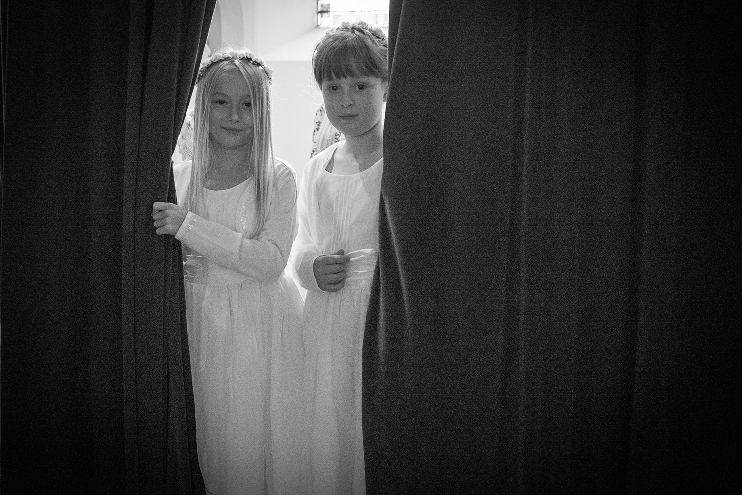 Copy of Flowers girls at wedding ceremony in Harrogate