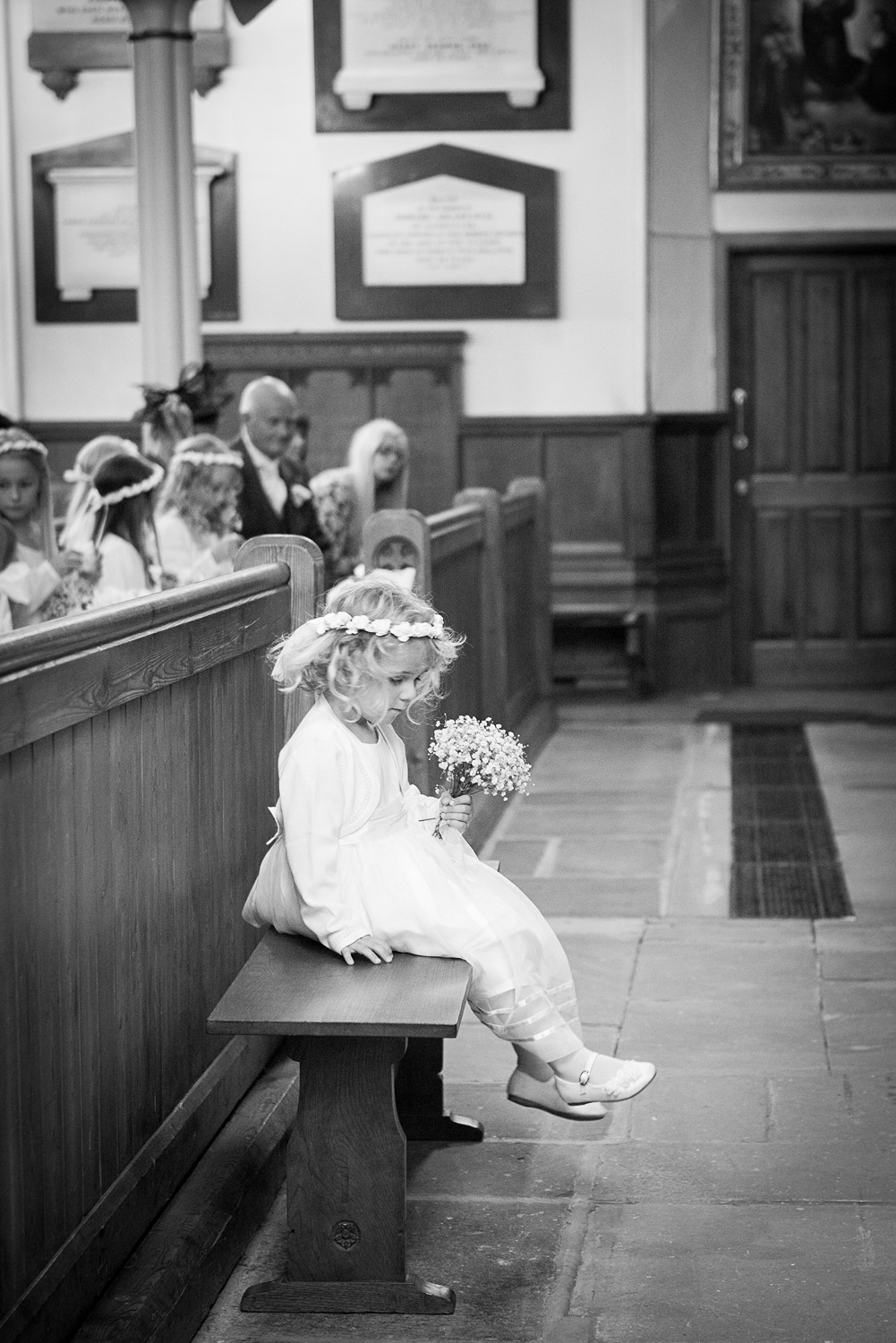 Copy of little flower girl at wedding ceremony