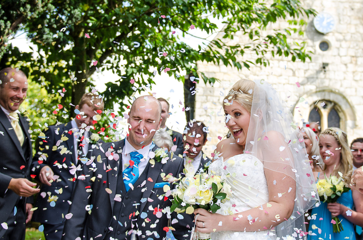 Copy of wedding confetti photo in harrogate