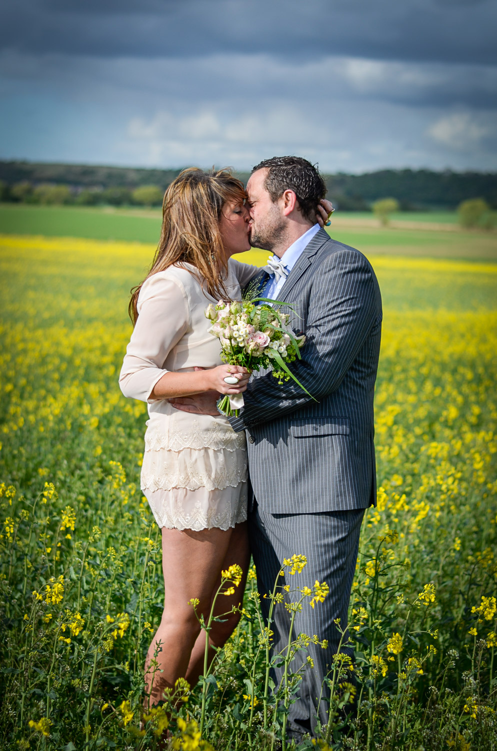 pontefract styled photo shoot of a couple kissing
