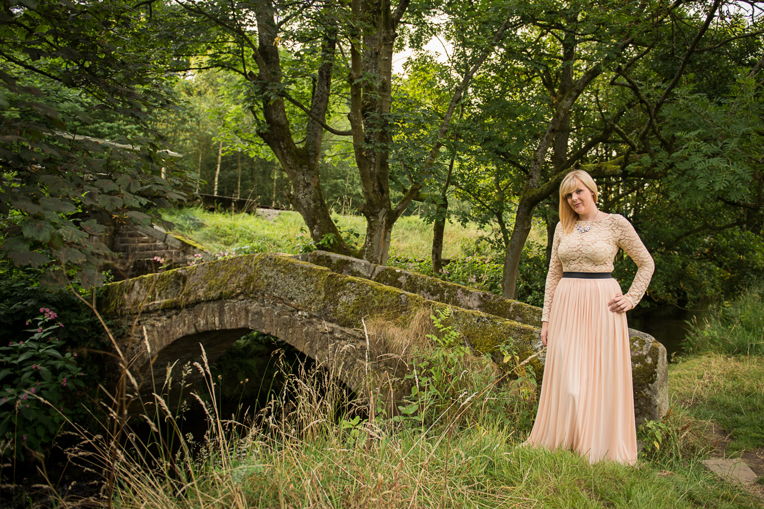 girl posing for vintage photo shoot at haworth