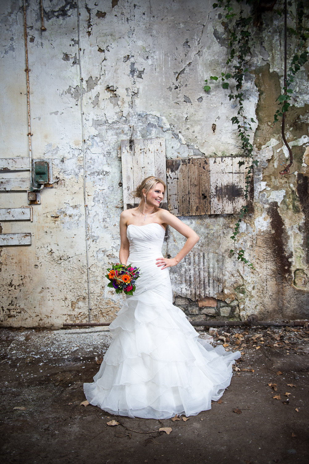Styled photography of a bride in Leeds