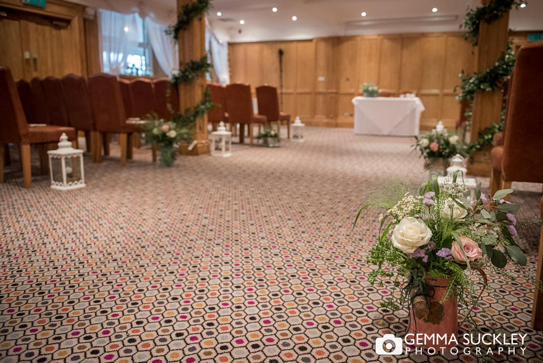 Devonshire Arms bolton Abbey Wedding ceremony room