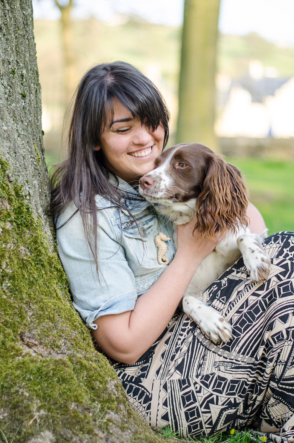 girl and her dog in skipton