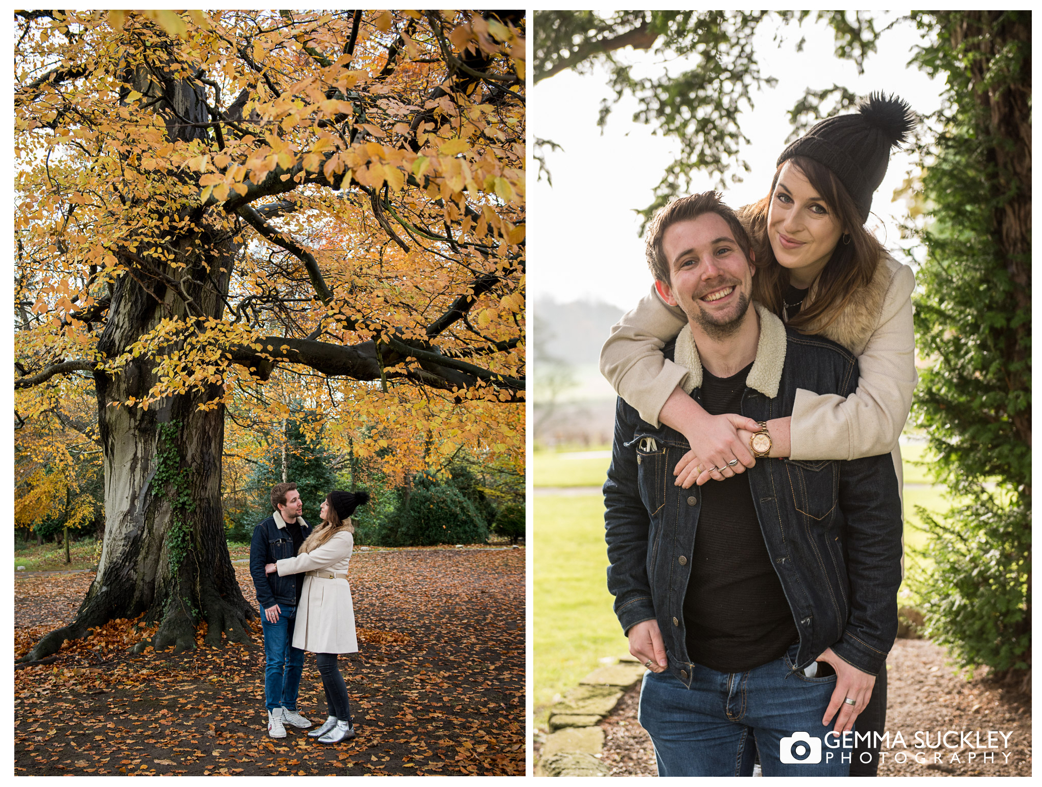 A pre-wedding photo shoot at Hazlewood Castle
