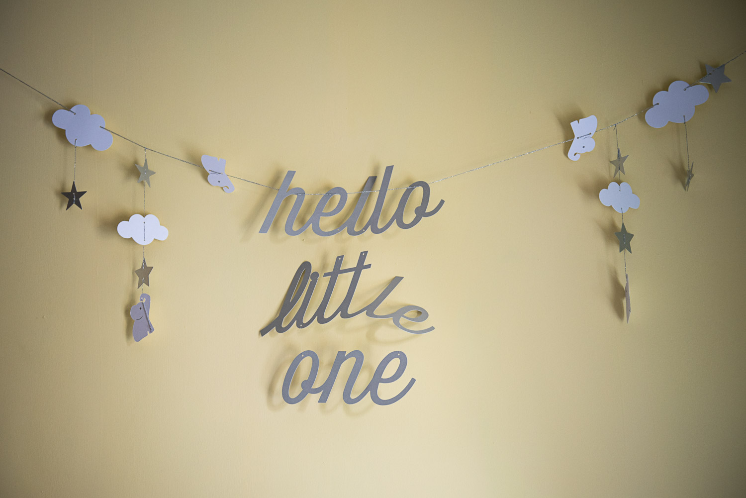 baby wall hanging decoration -hello little one'