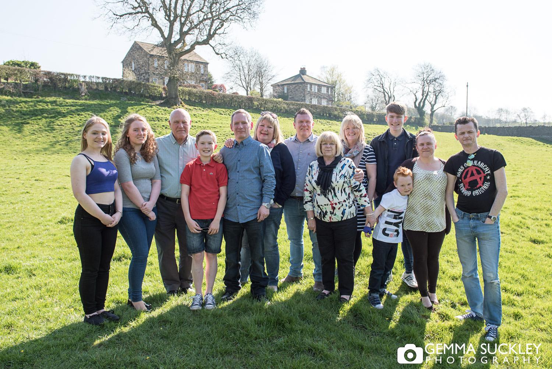 large family group photo