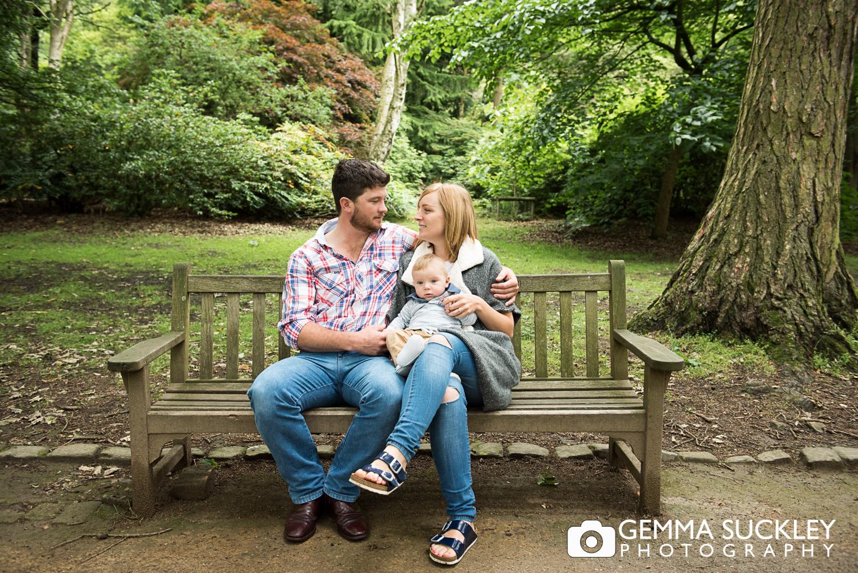 engagement photo at leeds Golden Acre Park