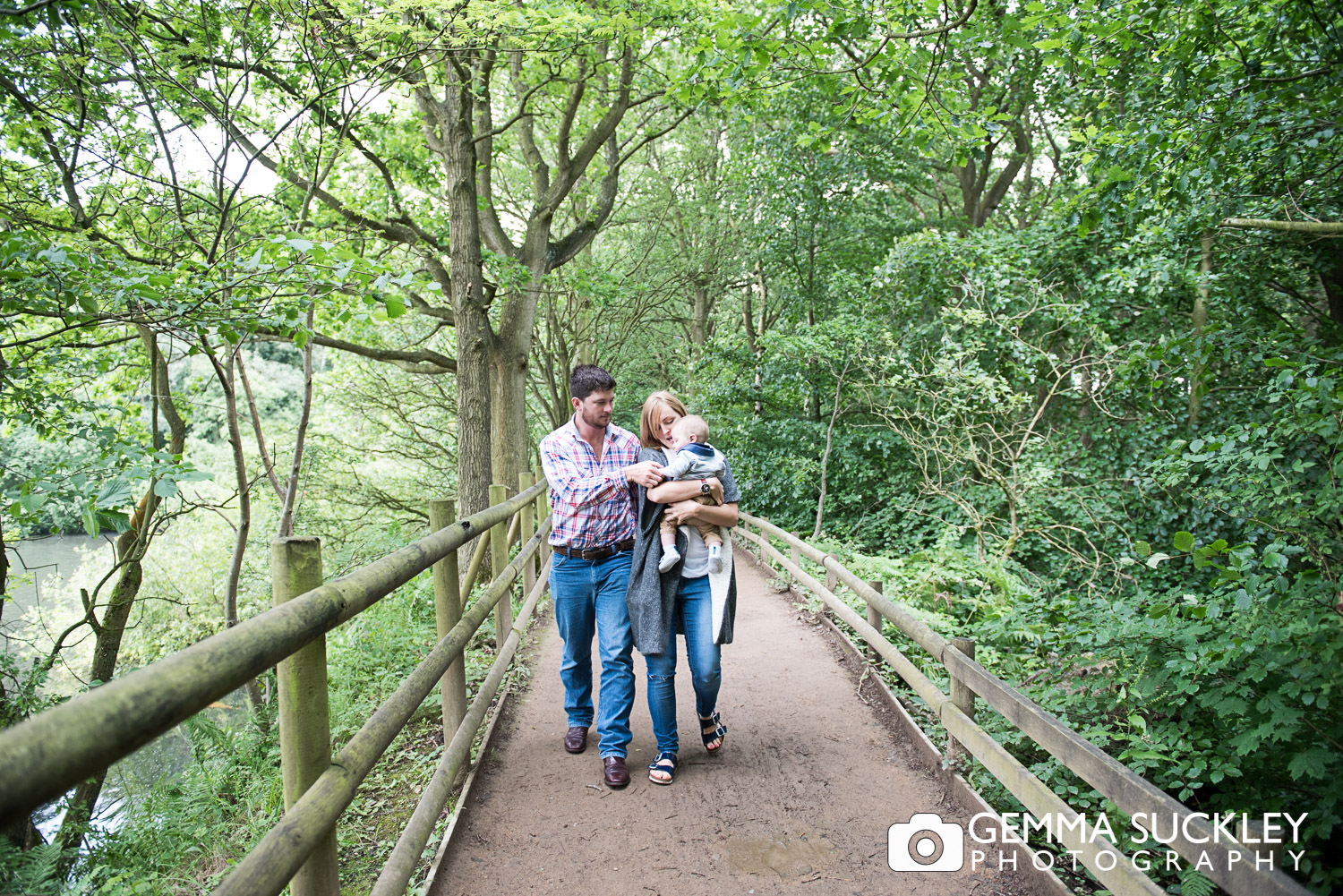 pre-wedding photo of family at Golden Acre Park