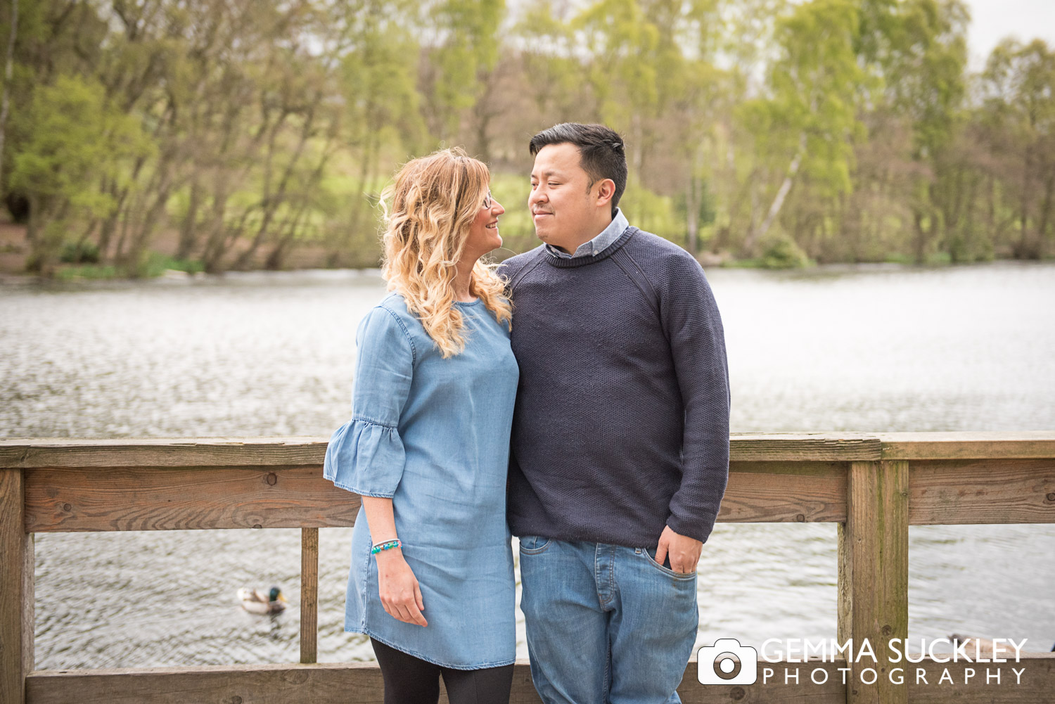engaged couple at St Ives Bingley
