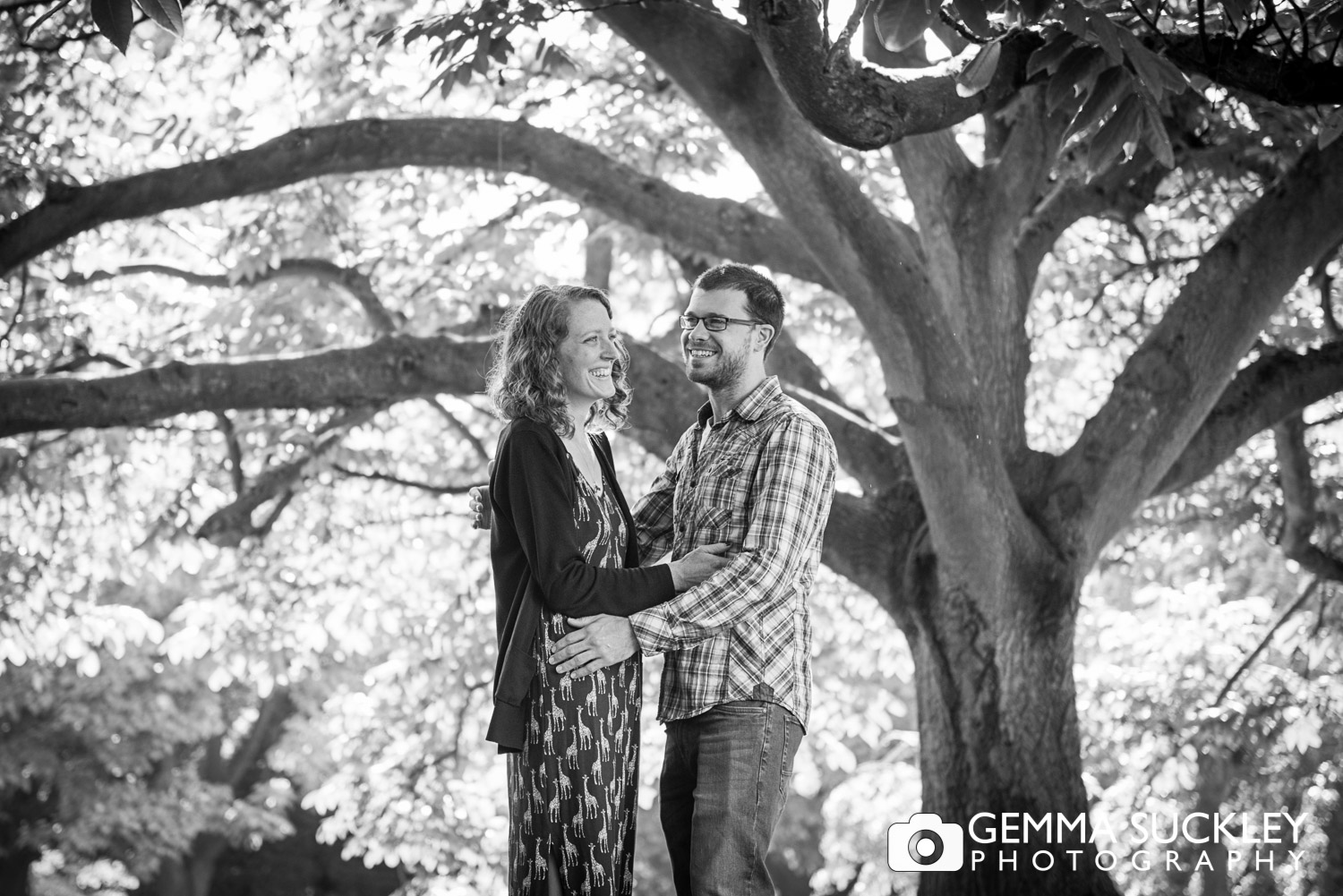 Photos of a coule during their engagement shoot in harrogate