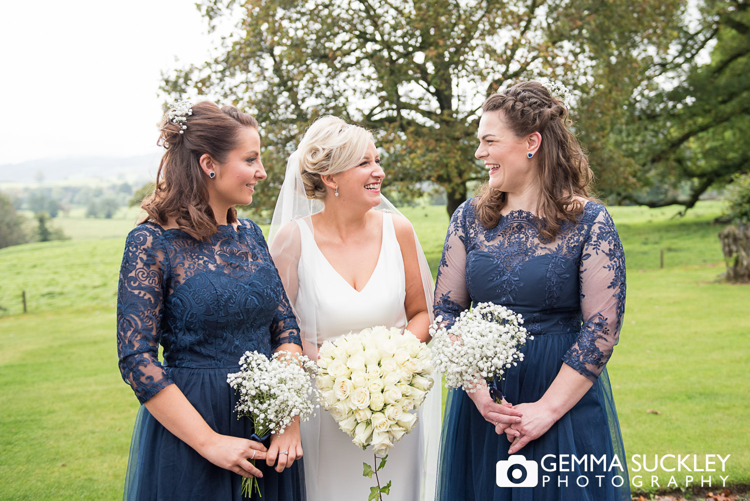 bride with bridesmaid at belmount hall