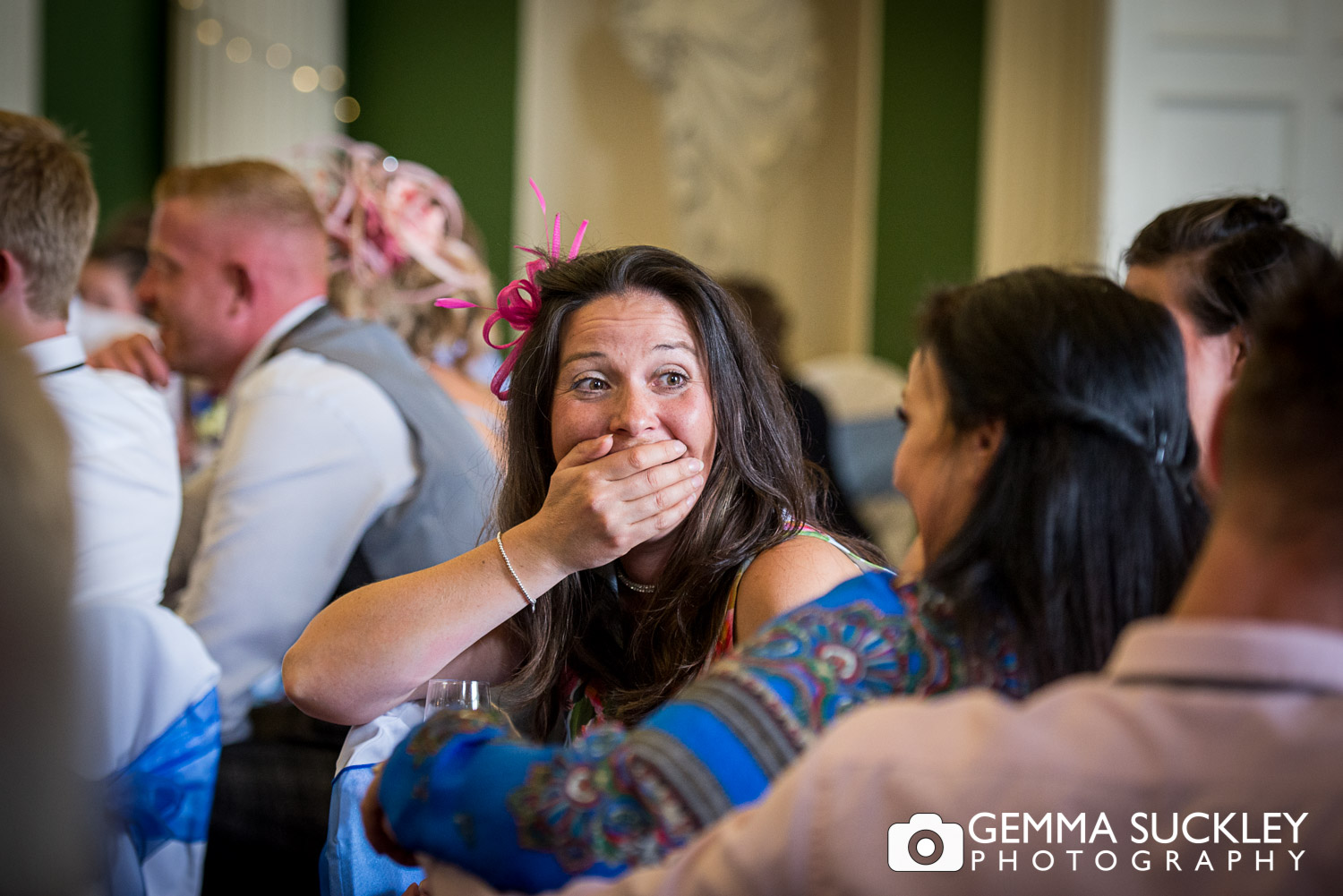 guest shocked at the wedding speeches at hazlewood castle