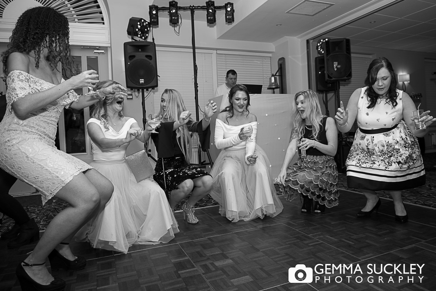 wedding guest dancing at bingley st ives