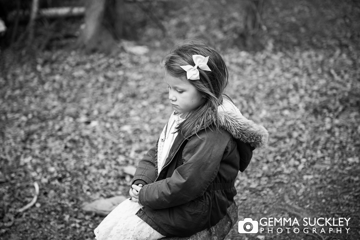 little girl during a family photo shoot in bingley st ives