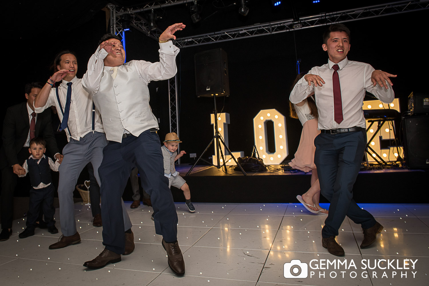 groom doing the thriller dance at the moorland inn halifax