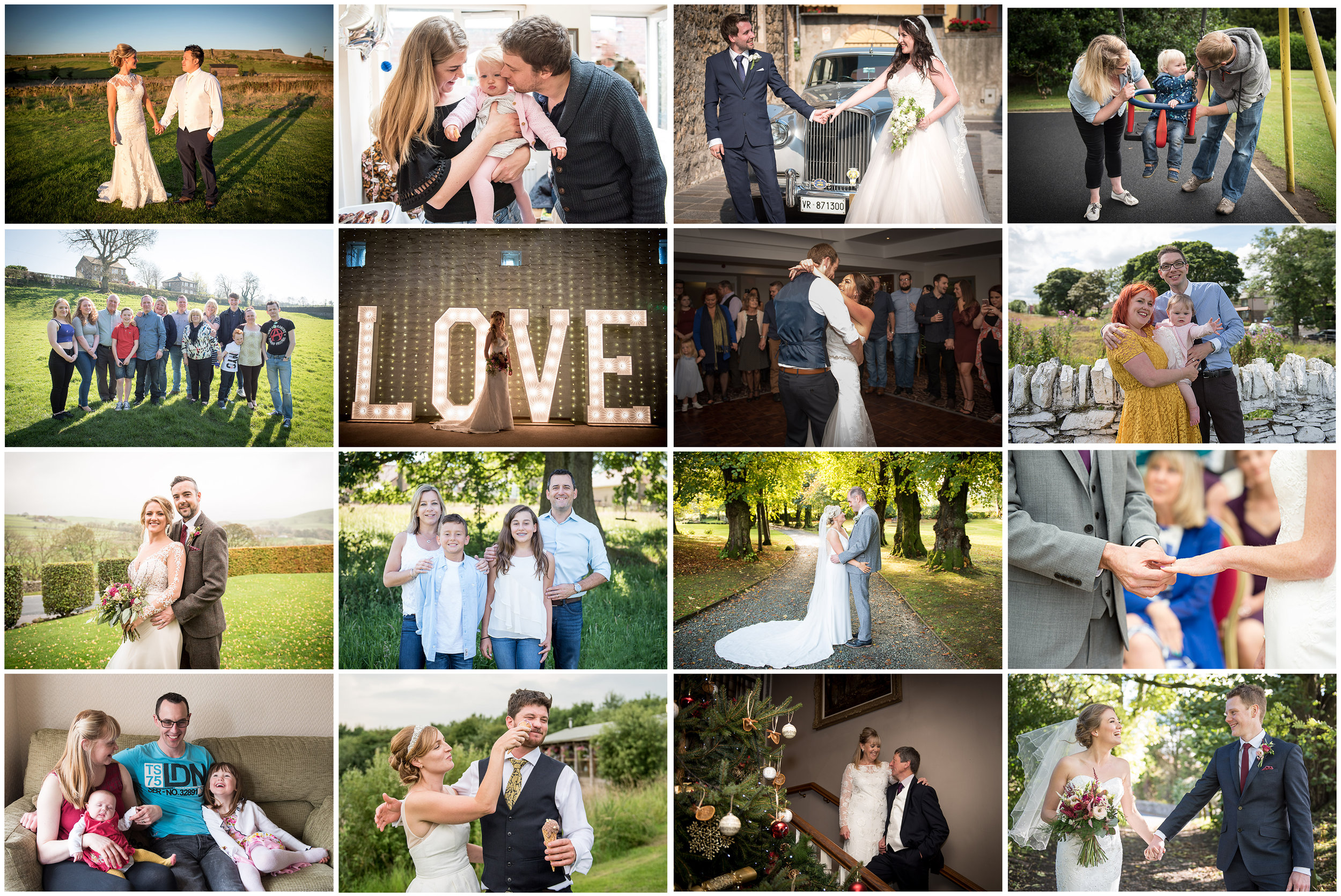 Yorkshire wedding couples and Yorkshire families