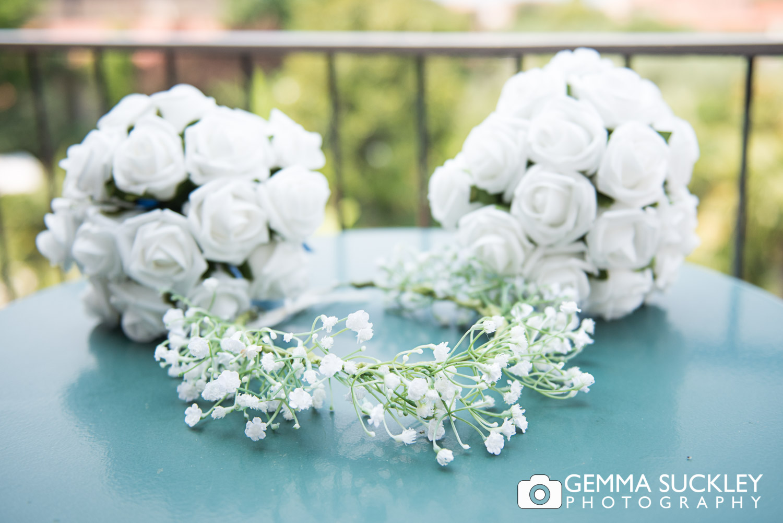 bridal floral headpiece