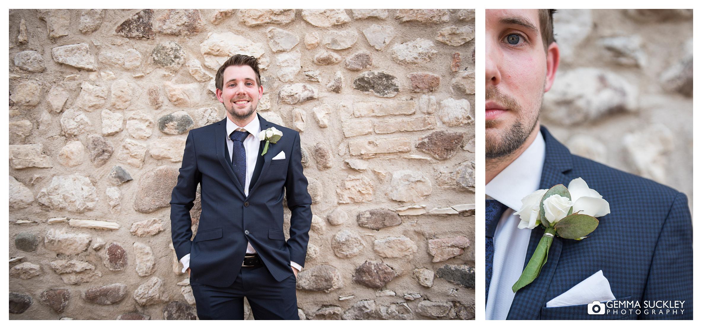 groom at his wedding abroad, Lake Garda wedding