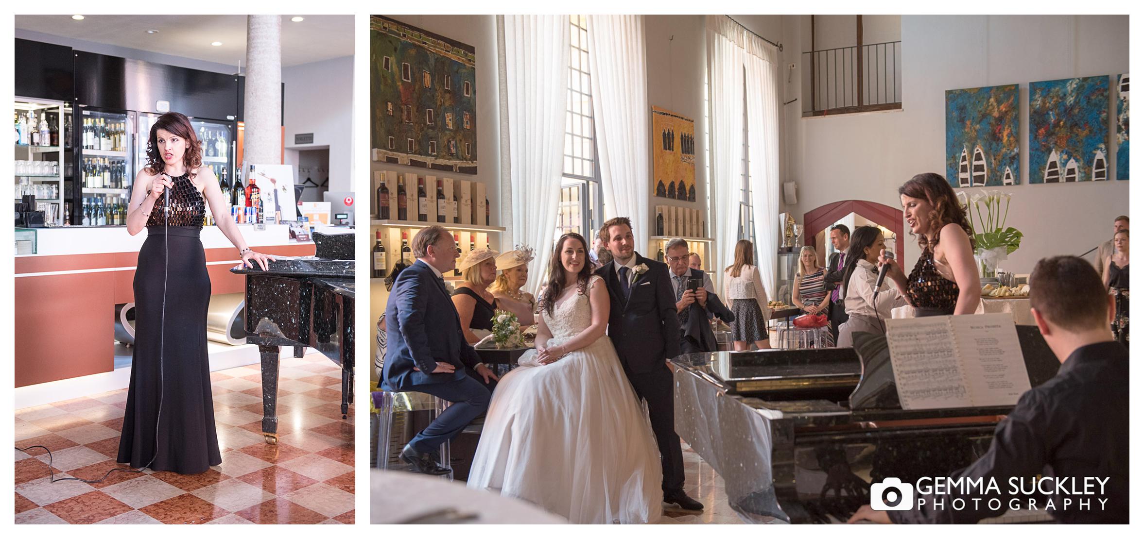 Opera singer at Lake Garda wedding