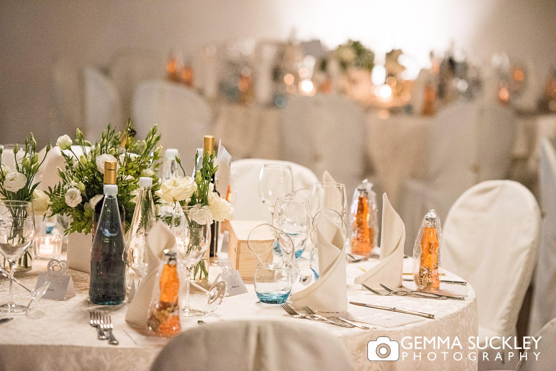 table detail in Lake Garda wedding