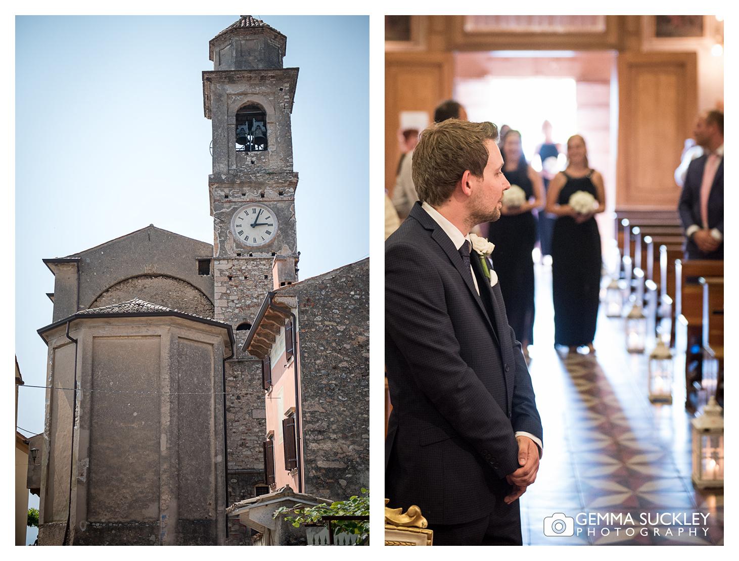 A church in Lake Garda