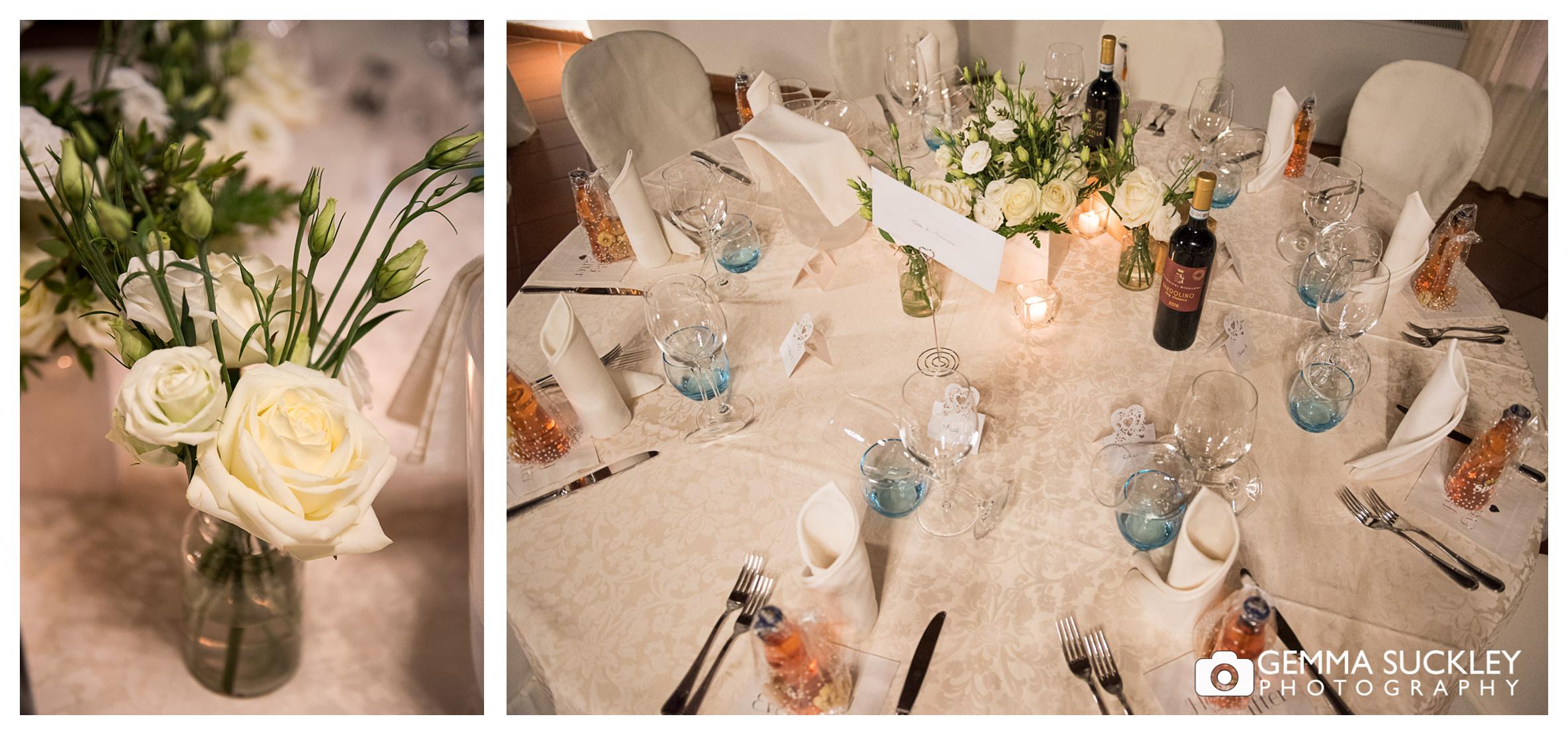 Lake Garda wedding table detail