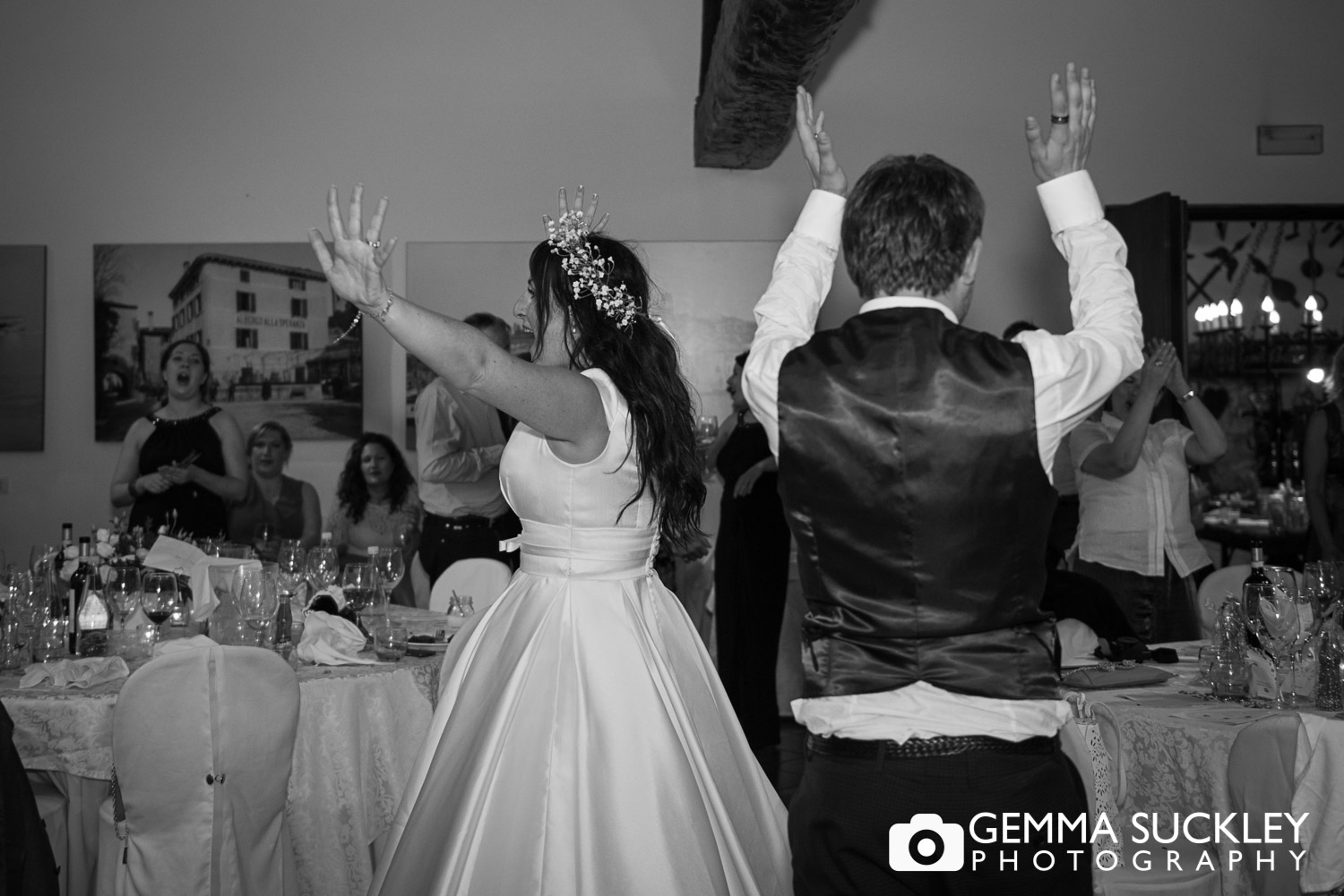 Yorkshire bride and groom dancing at their wedding