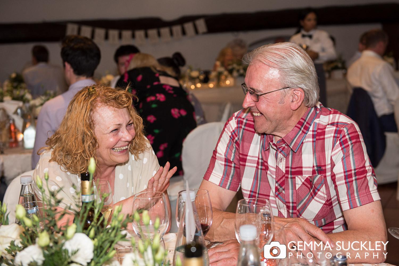 Yorkshire wedding guests at lake Garda wedding